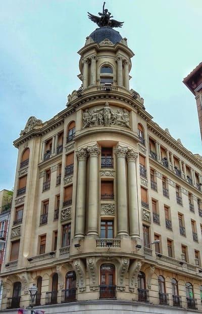 fachada de un edificio en el centro de valladolid